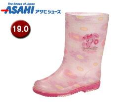 ASAHI/アサヒシューズ KL38402-1 サンリオ R283 レインブーツ 【19.0cm・2E】 (ボンボンリボン)