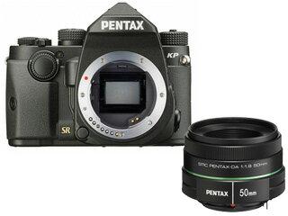 【今なら先着5名様にGRAMAS 液晶保護ガラス DCG-PE03プレゼント!】 PENTAX/ペンタックス KPボディキット(ブラック)+DA 50mmF1.8 中望遠レンズセット 【kpset】