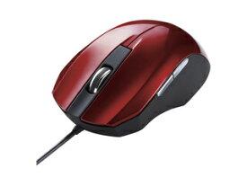 サンワサプライ 静音有線ブルーLEDマウス 5ボタン レッド MA-BL10R