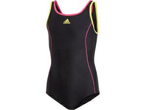 adidas/アディダス BOS Swimsuit Girl J100 (ブラック/グローリーピンク) FI8275