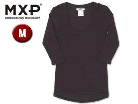 MXP/エムエックスピー MW15342-K Uネック5分袖シャツ レディース 【M】(ブラック)