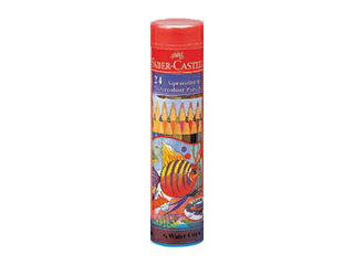 FABER-CASTELL/ファーバーカステル ファーバーカステル 水彩色鉛筆 丸缶 24色セット TFC-115924