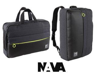 NAVA DESIGN/ナヴァデザイン PS069 ブリーフケース/バッグパック 【ブラック×グリーン】 バッグ ビジネス 鞄 イタリア バックパック リュック ブリーフケース 仕事