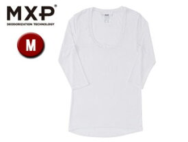 MXP/エムエックスピー MW15342-W2 Uネック5分袖シャツ レディース 【M】(ホワイト)