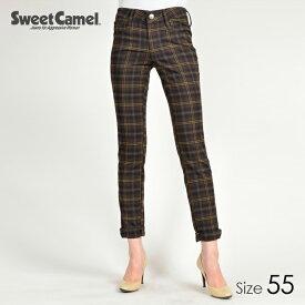Sweet Camel/スウィートキャメル タータンチェック柄スキニー パンツ(78=ブラウン/サイズ55)