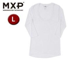 MXP/エムエックスピー MW15342-W2 Uネック5分袖シャツ レディース 【L】(ホワイト)