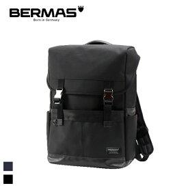BERMAS/バーマス BAUER 60075 メンズ ビジネス スクエアリュック テフロン加工 (ブラック)