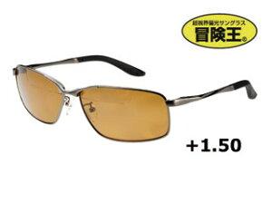 視泉堂/シセンドウ BFS-5B バイフォーカルスポーツ [老眼入偏光グラス] (フレーム:ガンメタ) 【+1.50】