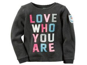 carters/カーターズ 【在庫処分】 12M ロングTシャツ グレー LOVE 235G53012