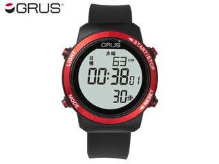 GRUS/グルス グルス GRS001-01 歩幅計測機能付きウォーキングウォッチ 【レッド】(GRS00101) 【歩幅がはかれるウォーキングウォッチ】