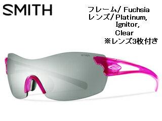 Smith Optics/スミス PIVLOCK ASANA Fuchsia 【レンズ/Platinum、Ignitor、Clear】 【当社取扱いのスミス商品はすべて日本正規代理店取扱品です】