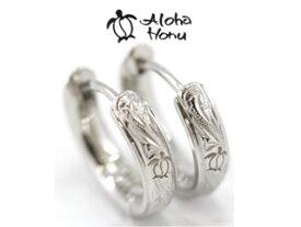 ALOHA HONU/アロハ ホヌ ハワイアンピアス/ホヌ(ウミガメ)■ステンレス【シルバーカラー】■PMH-401