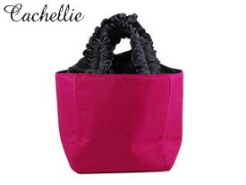 Cachellie/カシェリエ 546083 フリルハンドルナイロントートバッグ Sサイズ【ピンク】