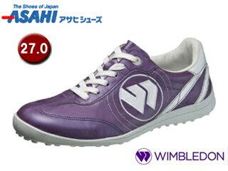 【nightsale】 ASAHI/アサヒシューズ KF50013-1 ウィンブルドン WB 008 スポーツカジュアルシューズ 【27.0cm・3E】 (パープル)