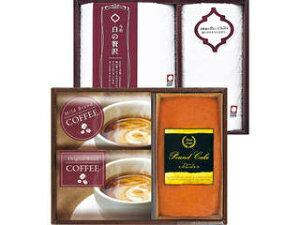 今治製タオル(白の贅沢)&金澤パウンドケーキ・珈琲セット IK−30
