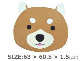コモライフ ほっこりめいと ルームマット G-6523 N柴犬