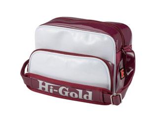 HI-GOLD/ハイゴールド HB-88 エナメルミニチュアショルダーバッグ 【7L】(ホワイト×エンジ/エナメル)