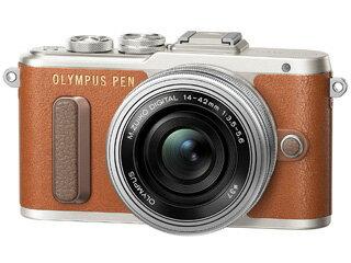 OLYMPUS/オリンパス PEN E-PL8 14-42mm EZレンズキット(ブラウン) 【epl8】