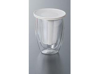 bodum/ボダム ティーフィルター付ダブルウォールグラス/ホワイト/K11153−913