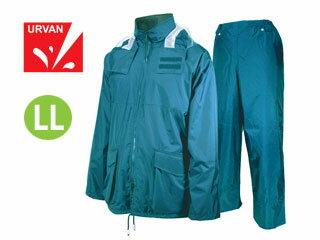 【nightsale】 URVAN/アーヴァン 雨雨 #5950 反射テープ付 レインスーツ 上下セット 男女兼用(ブルー)【LL】