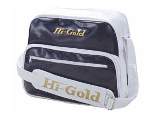 HI-GOLD/ハイゴールド HB-8800 エナメルショルダーバッグ ミディアムサイズ 【20L】(ネイビー×ホワイト)
