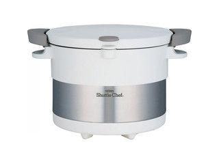 THERMOS/サーモス 真空保温調理器 シャトルシェフ(20cm・3l)/ピュアホワイト