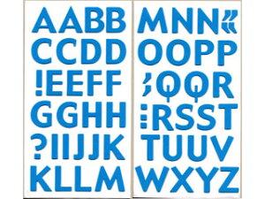 ARTE/アルテ フォームアルファベットステッカー CFS-05 ブルー シートサイズ(H293×W156mm) 1セット入 【deco】【hobby】【趣味】【シール】【オリジナル】【デコレーション】