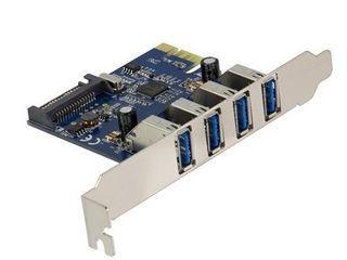 Owltech/オウルテック USB3.0増設ボード 4ポート ロープロファイル対応 OWL-PCEXU3E4L