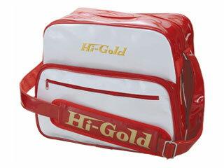 HI-GOLD/ハイゴールド HB-8800 エナメルショルダーバッグ ミディアムサイズ 【20L】(ホワイト×レッド)
