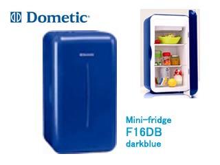 【nightsale】 Dometic/ドメティック F16 DB Mini-fridge/ミニフリッジ 2WAY(AC/DC) ミニ保冷庫(ダークブルー) ≪2熱源対応(AC100V、DC12V)≫ 【キャンプ・BBQ】【クーラーボックス】【保冷】【車で使える】