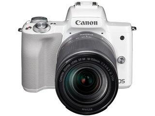 CANON/キヤノン EOS Kiss M EF-M18-150 IS STM レンズキット(ホワイト) 2683C005