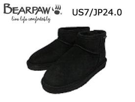 Bear paw/ベアパウ CI4BT016W ムートンブーツ Lena (Black)【US7/JP24.0】【日本正規品】