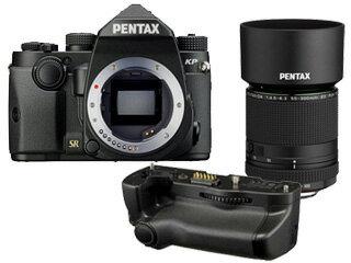 PENTAX/ペンタックス KPボディキット(ブラック)+D-BG7 バッテリーグリップ+DA 55-300mmF4.5-6.3レンズセット【kpset】