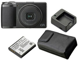 RICOH/リコー GR III+DB-110 バッテリー+BJ-11 充電器+GC-10 ケースセット【gr3set】