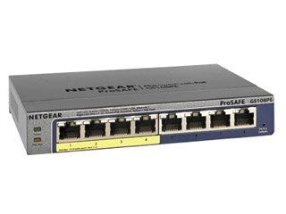 NETGAER/ネットギア・インターナショナル 【納期未定】GS108PE 本体ライフタイム PoE ギガ8ポート アンマネージプラス GS108PE-300AJS