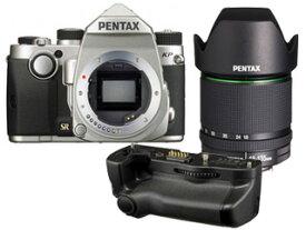 PENTAX/ペンタックス KPボディキット(シルバー)+バッテリーグリップ+【アウトレット】DA18-135mmF3.5-5.6セット【kpset】 ※交換レンズは『新品アウトレット』です