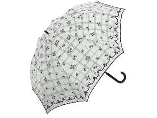 【nightsale】 mikuni/ミクニ mikuni 小花プリント 長傘 手開き 日傘/晴雨兼用 【50cm】 (オフホワイト)