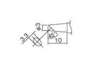 HAKKO/白光 こて先 3BC型(Z) 面のみ T12-BCF3Z