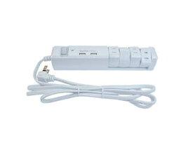Fargo/ファーゴ TAPKING OAタップ USB AC4個口 2.4A USB2ポート ホワイト PTBK2604UWH