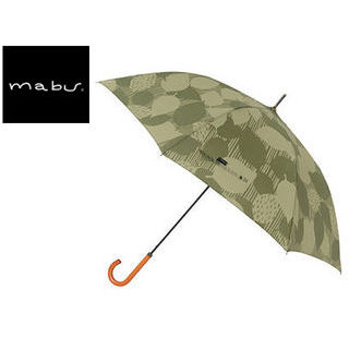 mabu world/マブワールド MBU-MLJ04 長傘 ジャンプ 日傘/晴雨兼用傘 レジェ ワンタッチスリム 全16色 58cm (リーフバジル)