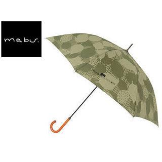 【nightsale】 mabu world/マブワールド MBU-MLJ04 長傘 ジャンプ 日傘/晴雨兼用傘 レジェ ワンタッチスリム 全16色 58cm (リーフバジル)