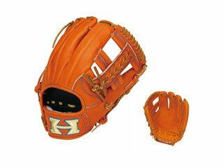 HI-GOLD/ハイゴールド WKG-1056 二塁手・遊撃手用硬式グラブ 技極プロフェッショナル (オレンジ×タン) 【右投げ用】