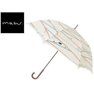 mabu world/マブワールド MBU-MLJ05 長傘 ジャンプ 日傘/晴雨兼用傘 レジェ ワンタッチスリム 全16色 58cm (ツイギークリーム)