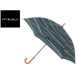 mabu world/マブワールド MBU-MLJ06 長傘 ジャンプ 日傘/晴雨兼用傘 レジェ ワンタッチスリム 58cm (ツイギーフォレストグリーン)