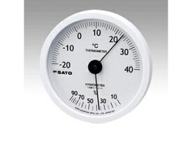 SATO/佐藤計量器製作所 ホワイティ温湿度計 1022-00 ホワイティ