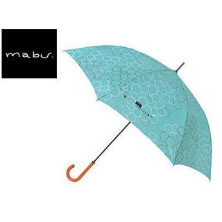 【nightsale】 mabu world/マブワールド MBU-MLJ07 長傘 ジャンプ 日傘/晴雨兼用傘 レジェ ワンタッチスリム 全16色 58cm (バブルミント)
