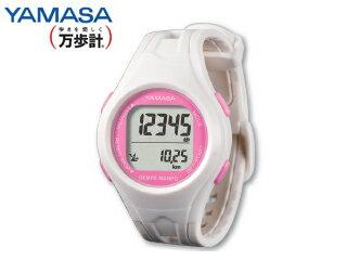 YAMASA/山佐時計計器 TM-450 ウォッチ万歩計 DEMPA MANPO 女性用 (ホワイト/ピンク)