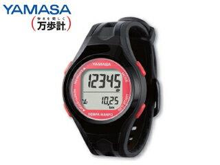 YAMASA/山佐時計計器 TM-450 ウォッチ万歩計 DEMPA MANPO 女性用 (ブラック/レッド)