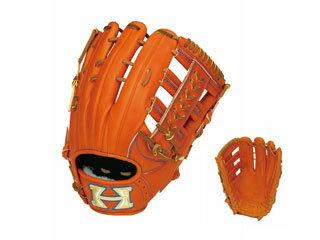 HI-GOLD/ハイゴールド WKG-1058 外野手用 硬式グラブ 技極プロフェッショナル (オレンジ×タン) 【右投げ用】