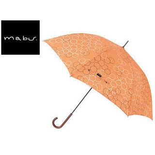 【nightsale】 mabu world/マブワールド MBU-MLJ08 長傘 ジャンプ 日傘/晴雨兼用傘 レジェ ワンタッチスリム 全16色 58cm (バブルオランジュ)